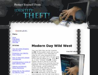 idtheftprotectiontips.info screenshot