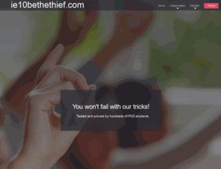 ie10bethethief.com screenshot