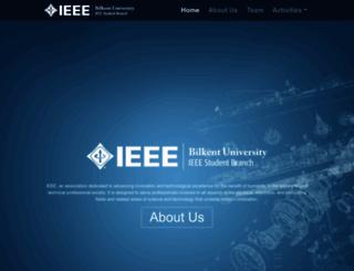 ieee.bilkent.edu.tr screenshot