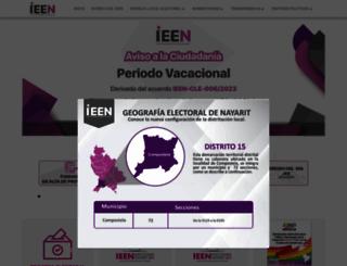 ieenayarit.org screenshot