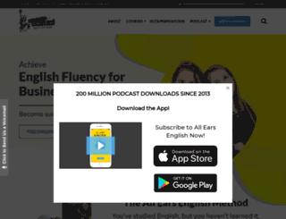 ielts.allearsenglish.com screenshot