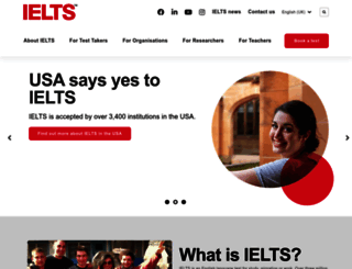 ielts.org screenshot