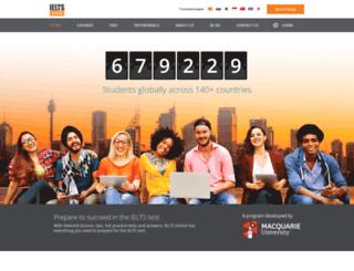 ieltsonline.com.au screenshot