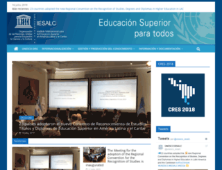 iesalc.unesco.org.ve screenshot