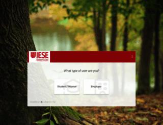 iese-csm.symplicity.com screenshot