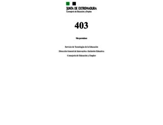 iesunivlaboral.juntaextremadura.net screenshot