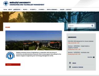 ietm.boun.edu.tr screenshot