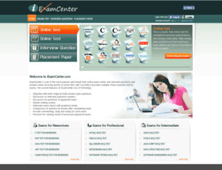 iexamcenter.com screenshot