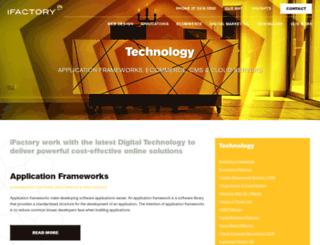 ifactorycms.com screenshot