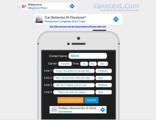 ifaketext.com screenshot
