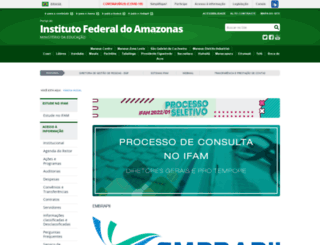 ifam.edu.br screenshot