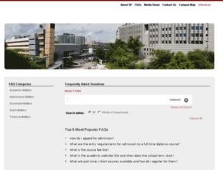 ifaq.sp.edu.sg screenshot