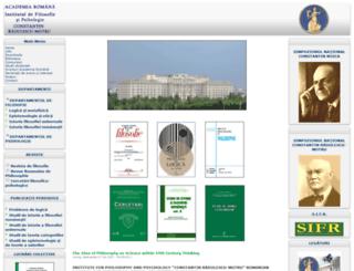 ifilosofie.uv.ro screenshot