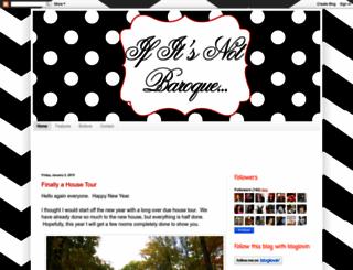 ifitsnotbaroquedesignblog.blogspot.com screenshot