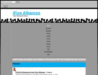 ifivealliances.ning.com screenshot