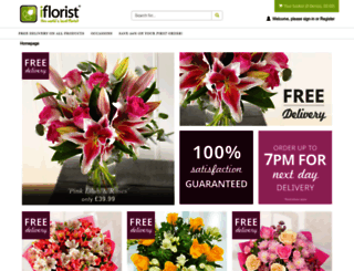 iflorist.co.uk screenshot