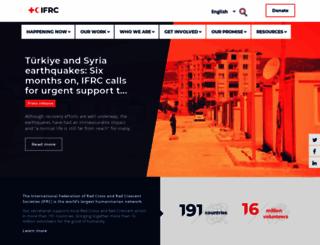 ifrc.org screenshot