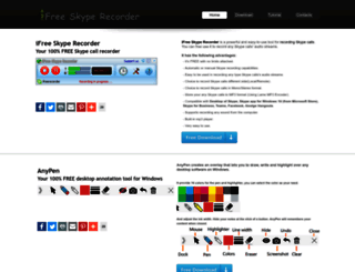 ifree-recorder.com screenshot