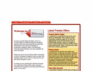ifree.com.au screenshot