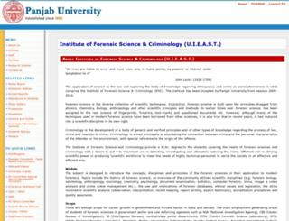 ifsc.puchd.ac.in screenshot