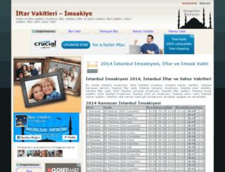 iftarvakitleri.net screenshot