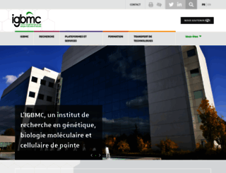 igbmc.fr screenshot