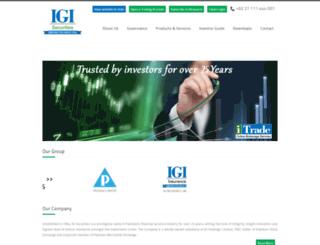 igisecurities.com.pk screenshot