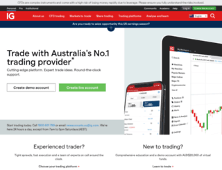 igmarkets.com.au screenshot