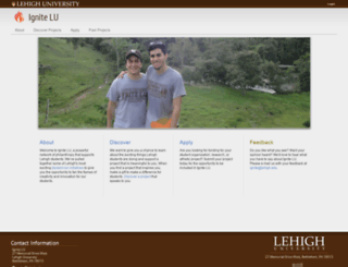 ignite.lehigh.edu screenshot