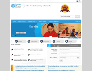 ignou.ac.in screenshot