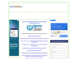 ignou.examresults.net screenshot