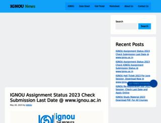 ignouacin.in screenshot