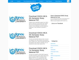 ignoucloud.com screenshot