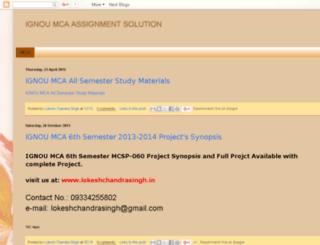 ignoumcaassignmentsolution.blogspot.in screenshot