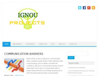 ignouprojects.com screenshot