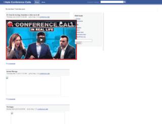 ihateconferencecalls.com screenshot