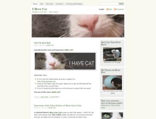 ihavecat.wordpress.com screenshot
