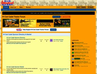 ihcubcadet.com screenshot