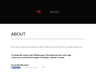 iheartradio.nationbuilder.com screenshot