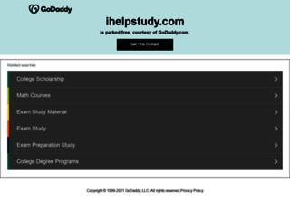 ihelpstudy.com screenshot