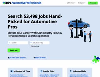 ihireautomotiveprofessionals.com screenshot