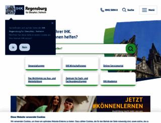 ihk-regensburg.de screenshot