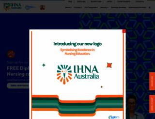 ihna.edu.au screenshot