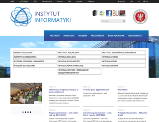 ii.uwb.edu.pl screenshot