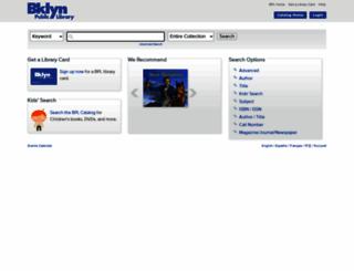 iii.brooklynpubliclibrary.org screenshot