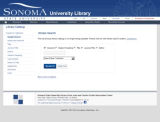 iii.sonoma.edu screenshot
