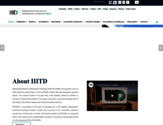 iiitd.ac.in screenshot