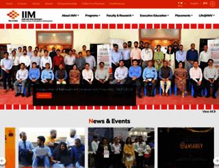iimv.ac.in screenshot