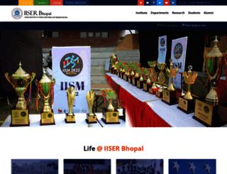 iiserb.ac.in screenshot