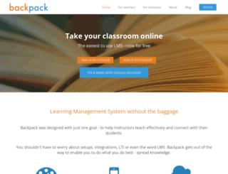 iitk.usebackpack.com screenshot
